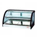 Heated curved glass display cabinets
