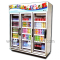 3 door glass cabinet stand YPM-165P.