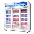3 door glass cabinet stand SEC-1500SBD.