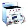 4 burner stove heated the oven.
