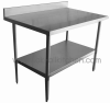 Stainless steel food preparation table 2.