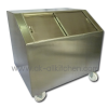 Ice bucket, stainless steel sliding Slop.